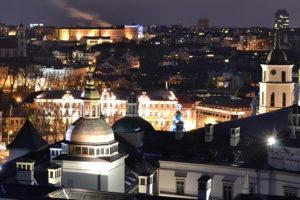 Ночной Вильнюс фото